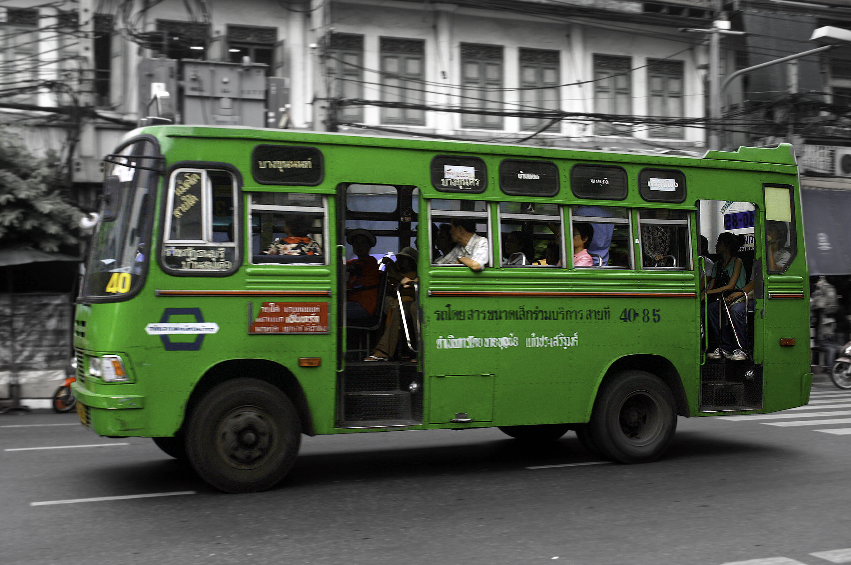 Transports In Bangkok By Photographer C U00e9cile Lopes