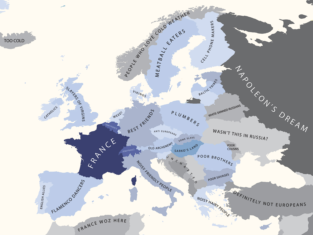 The monday map prejudices by yanko tsvetkov hejorama europe according to france gumiabroncs Image collections