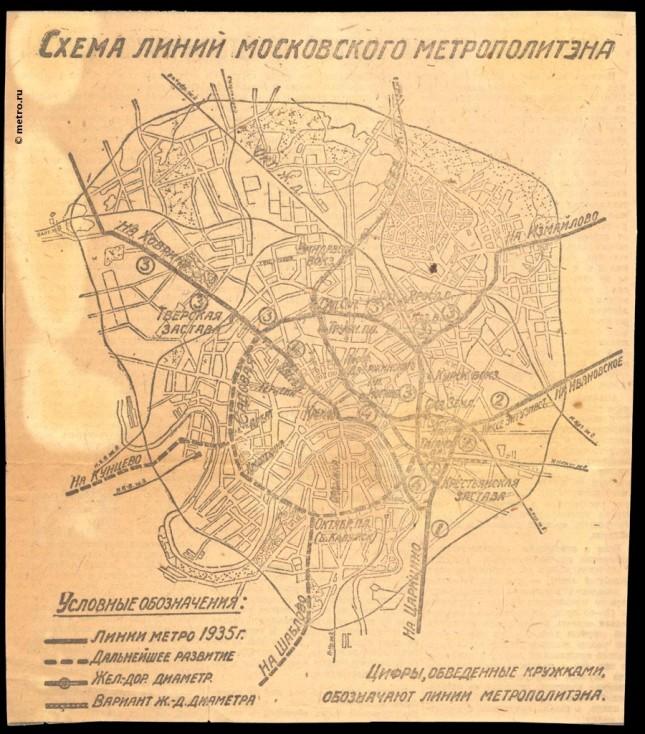 Metro Moscow 1931