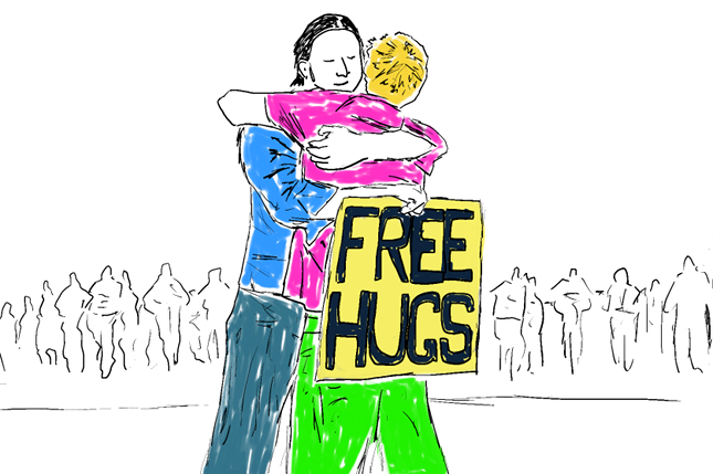 Free hugs interview