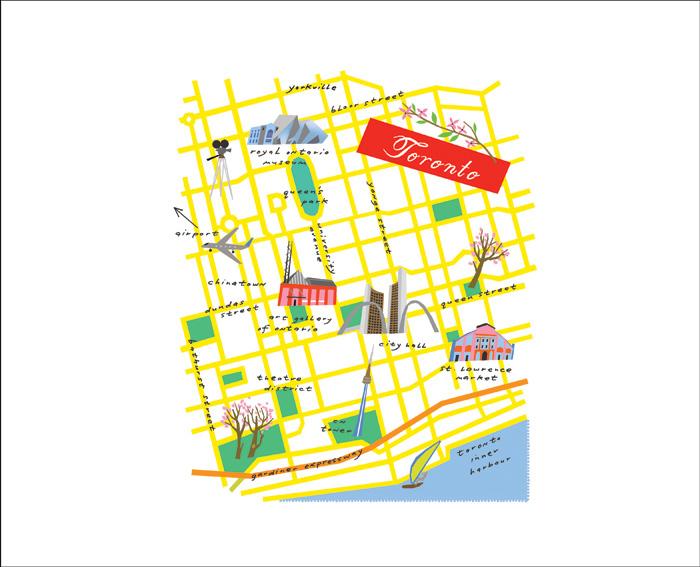 Map Toronto by Lena Corwin