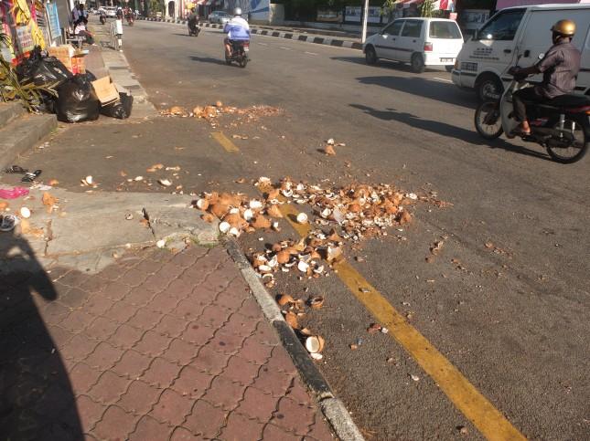 Thaipusam coconuts - Penang