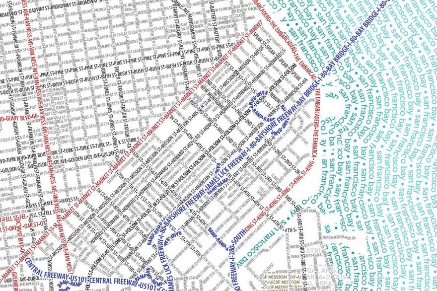 The Monday Map Typographic Topography Hejorama