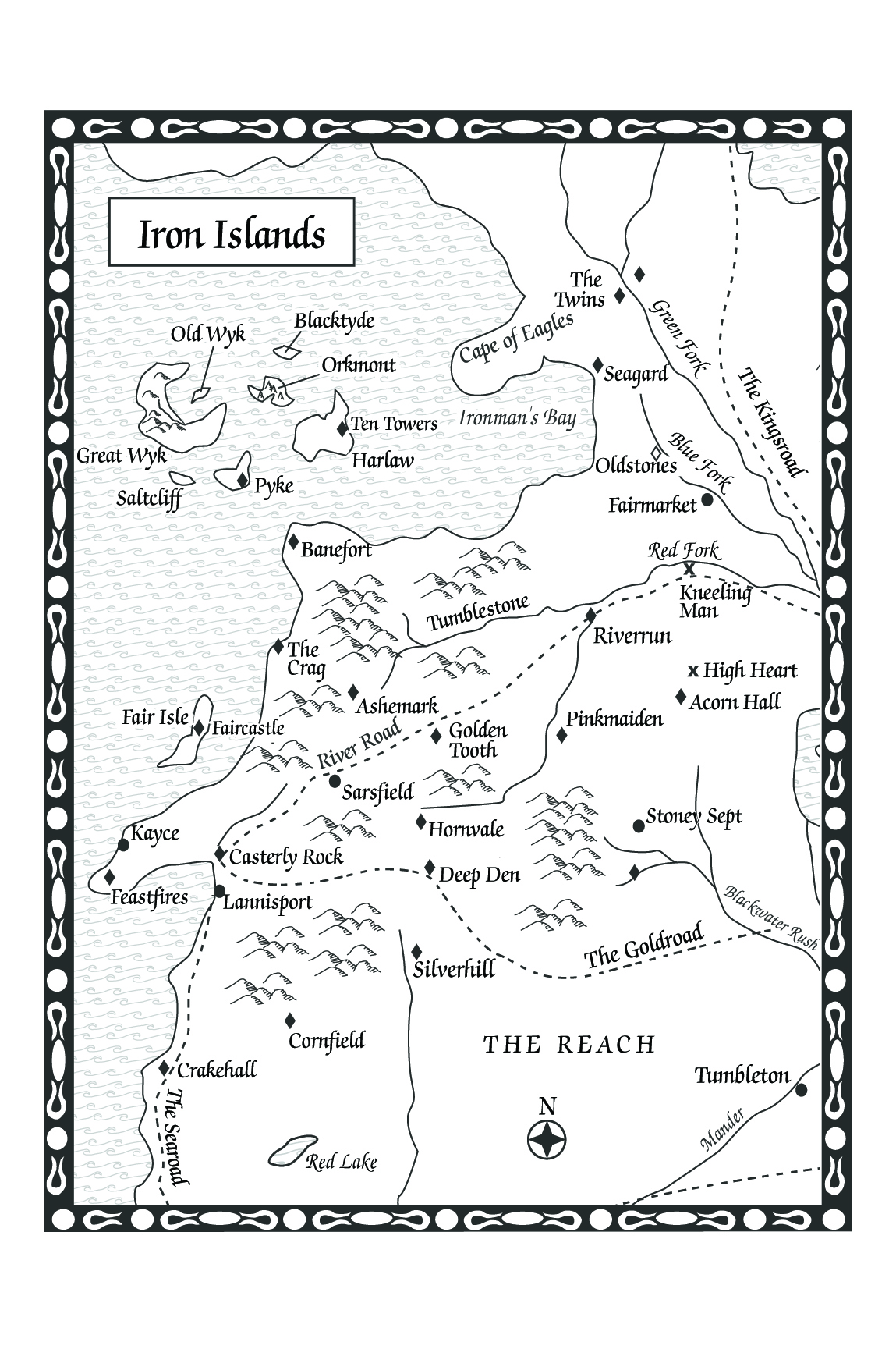 Original game of thrones maps hejorama game of thrones iron islands map from a feast for crows gumiabroncs Image collections