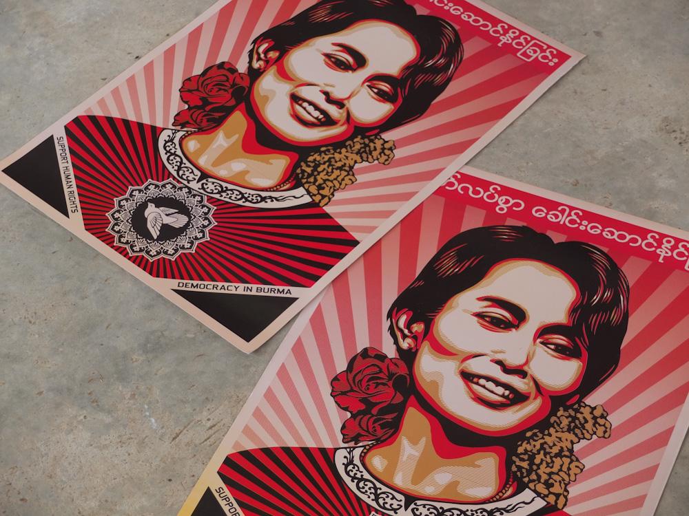 Aung San Suu Kyi posters