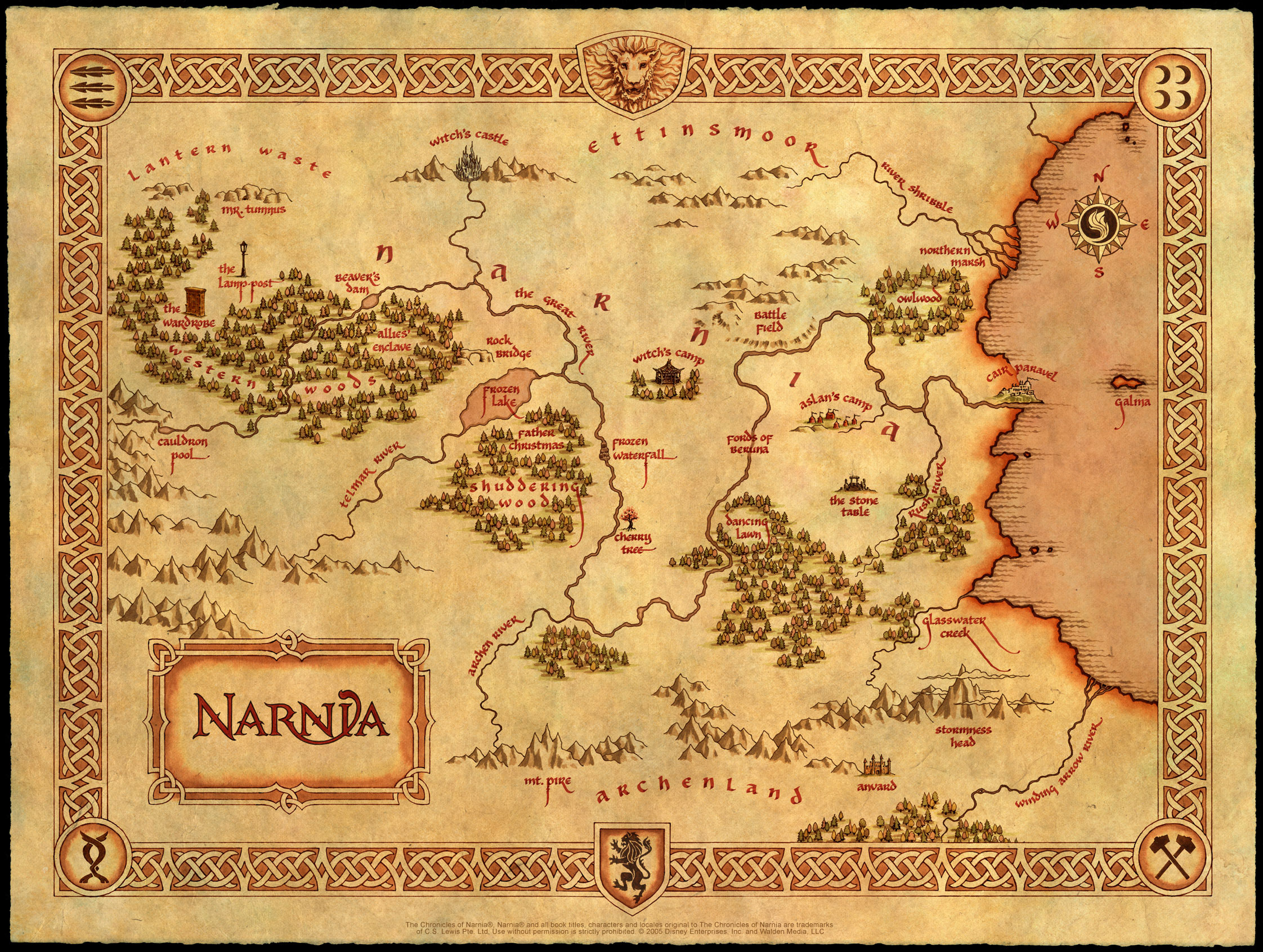 The monday map fantasy book maps