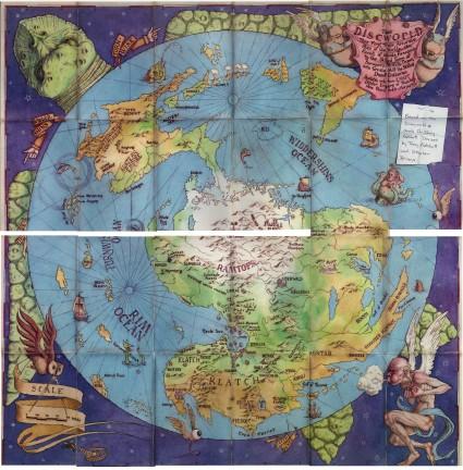 Terry Pratchett Discworld Map