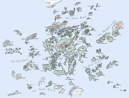 map Earthsea - Ursula Le Guin
