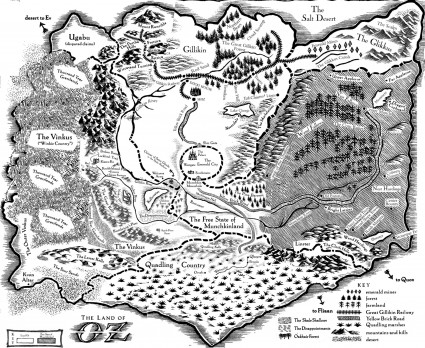map Land of OZ 2