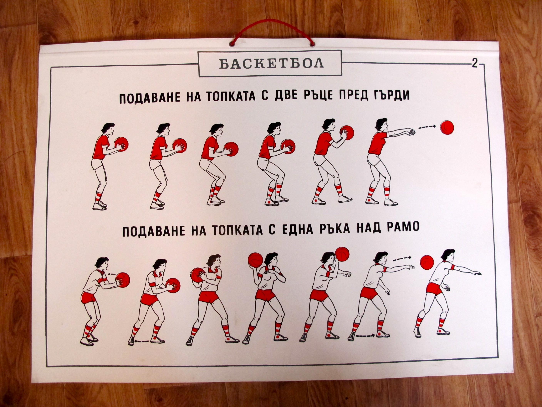 old communist sport poster - basket ball