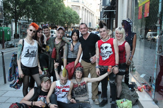 French punks in Paris
