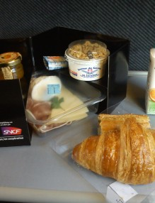 in-train meal TGV