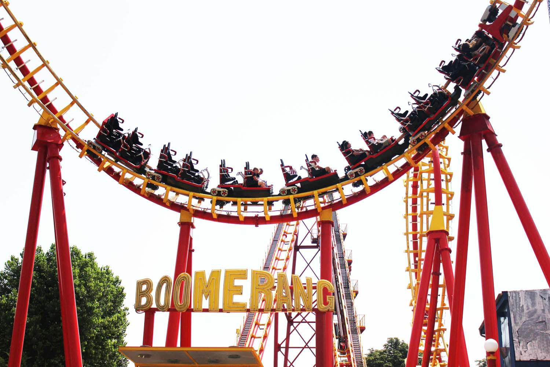 Boomerang-rollercoaster