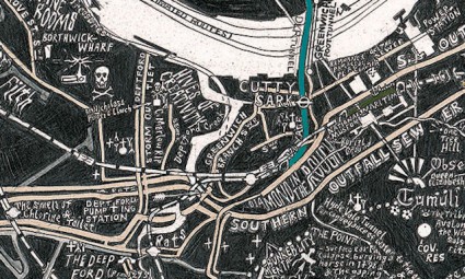 Subterranean London Map by Stephen Walter
