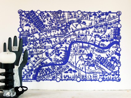 London Blue Paper Cut by Famille Summerbelle