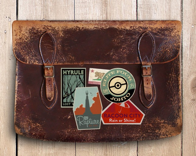 Luggage Gaming Labels by A.J. Hateley
