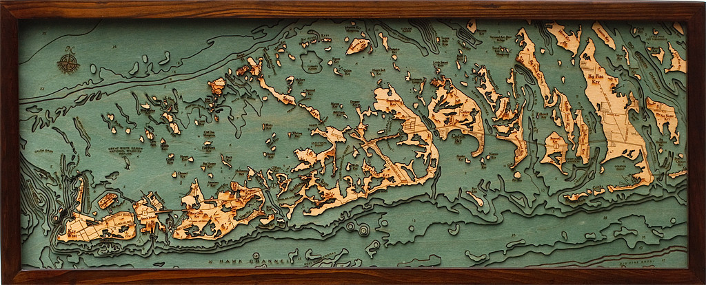 Wood Elevation Maps : Bathymetric charts from below the boat hejorama