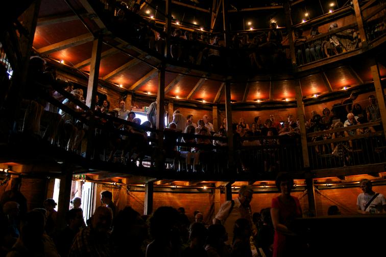 Globe Theatre inside